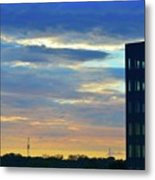 Before Sunset Color  Metal Print