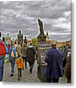 Before The Rain On The Charles Bridge Metal Print