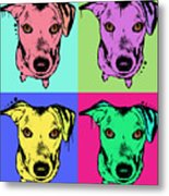 Beg Face Metal Print by Dean Russo