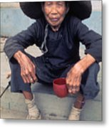 Begger Woman In China Metal Print
