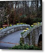 Beginning Of Spring Bridge Metal Print