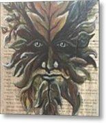 Beguiling Green Man Metal Print