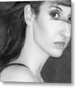 Behind Her Eyes Secrets Sleep... Metal Print