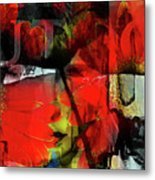 Behind The Poppies Metal Print