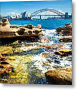 Behind The Rocks Metal Print