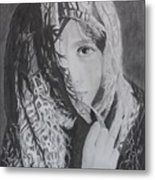 Behind The Veil Metal Print