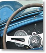Behind The Wheel Metal Print