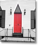 Behold I Stand And Knock Metal Print