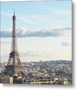 Paris Roofs And Tower Metal Print