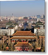 Beijing Central Axis Skyline, China Metal Print