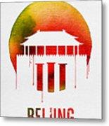 Beijing Landmark Red Metal Print