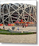 Beijing National Olympic Stadium Metal Print