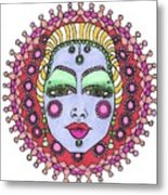 Bejeweled Blond Metal Print