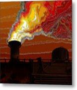 Belching Fire Metal Print