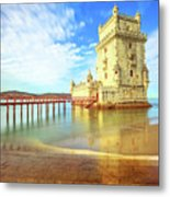 Belem Tower Reflects Metal Print