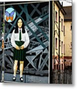 Belfast Mural - Butterfly - Ireland Metal Print