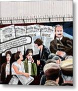 Belfast Mural - Headlines - Ireland Metal Print