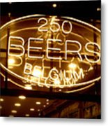 Belgian Beer Sign Metal Print
