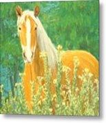 Belgian Draft Horse Metal Print