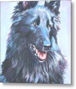 Belgian Sheepdog Portrait Metal Print