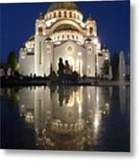 Belgrade Serbia Orthodox Cathedral Of Saint Sava  Metal Print