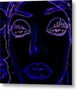 Belinda In Blue Metal Print