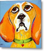 Belinda The Beagle Metal Print