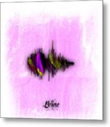 Belive Recorded Soundwave Collection Metal Print
