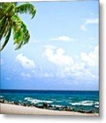 Belize Private Island Beach Metal Print