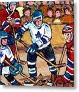 Bell Center Hockey Art Goalie Carey Price Makes A Save Original 6 Teams Habs Vs Leafs Carole Spandau Metal Print