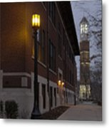 Bell Tower At Night Color Metal Print