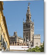 Bell Tower - Cathedral Of Seville - Seville Spain Metal Print