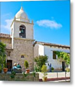 Bell Tower  In Carmel Mission-california  Metal Print