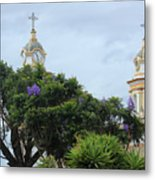 Bell Towers Next To Trees Metal Print