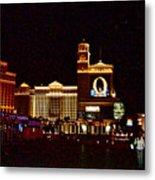 Bellagio And Caesar's Palace In Las Vegas-nevada Metal Print