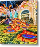 Bellagio Conservatory Fall Peacock Display Side View Wide 2017 Metal Print