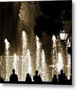 Bellagio Fountain At Night Metal Print