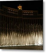 Bellagio Fountains Metal Print
