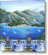 Bellagio From The Cafe Metal Print