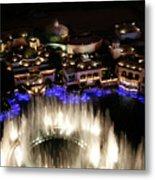Bellagio Hotel Fountain Metal Print