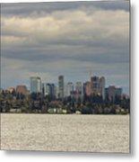 Bellevue Skyline Along Lake Washington Metal Print
