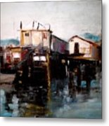 Bellingham Boats Metal Print