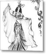 Belly Dancer With Veil. Friend Of Ameynra Metal Print
