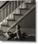 Belly Scratch Metal Print