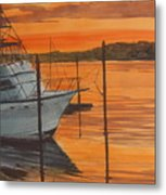 Belmar Sunset Metal Print