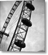 Below London's Eye Bw Metal Print
