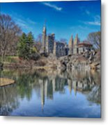 Belvedere Castle And Turtle Pond Metal Print
