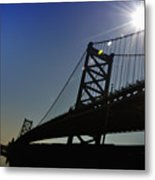 Ben Franklin Bridge 2 Metal Print