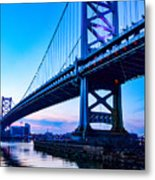 Ben Franklin Bridge Metal Print