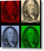 Ben Franklin In Colors Metal Print